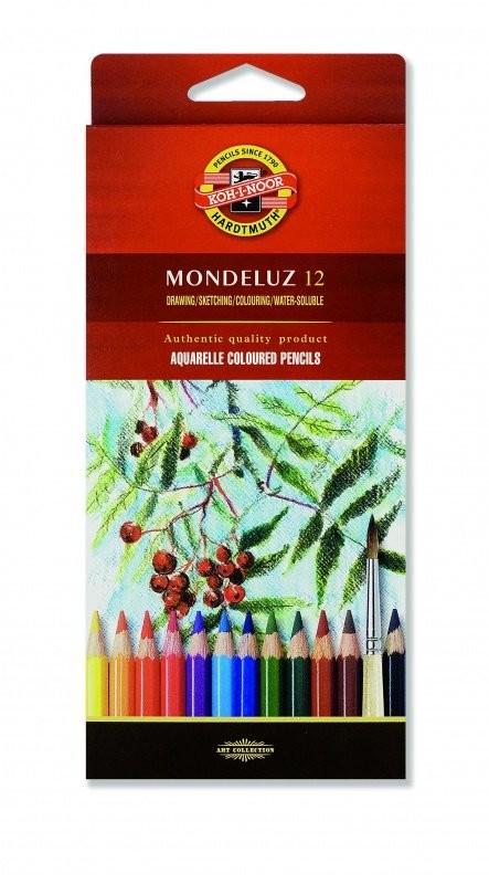 Koh-I-Noor kredki akwarelowe, Mondeluz, 12 kolorów