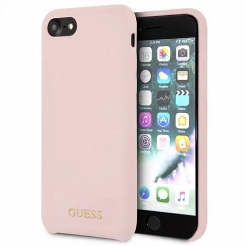 Guess Silicone - Etui iPhone 8 / 7 (jasny róż)