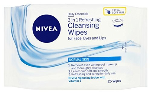 Nivea 6 X NIVEA Daily Essentials 25 Refreshing Facial Cleansing Wipes 81121