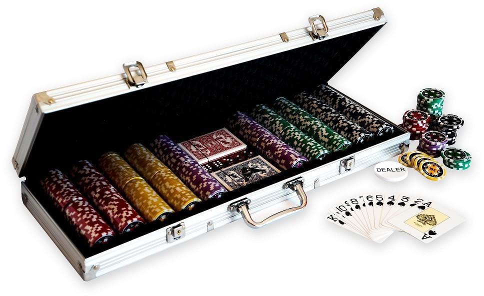 Super Zestaw Do Pokera 500 Żetony Nominał Poker !!