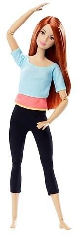 Mattel Barbie Made to move Lalka błękitny top DHL81 DPP74