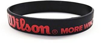 Wilson bransoletka z logo, dla kobiet i mężczyzn, Bracelet, rozmiar uniwersalny, czerwony, V1204 0026388159918