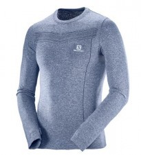 Salomon KOSZULA MĘSKA PARK SEAMLESS LS TEE M 397570 DRESS BLUE 397570