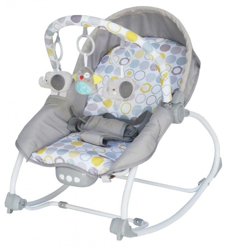 Baby Mix Leżaczek niemowlęcy BR 212-852 Grey