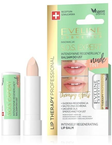 Eveline Lip Therapy S.O.S Expert Intensywnie regenerujący balsam do ust Tint Nude