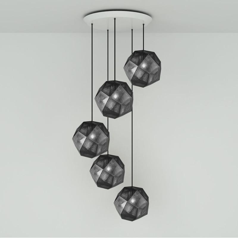 Tom Dixon Etch 32cm Round czarny lampa wisząca ELPS02BLKPEUM1