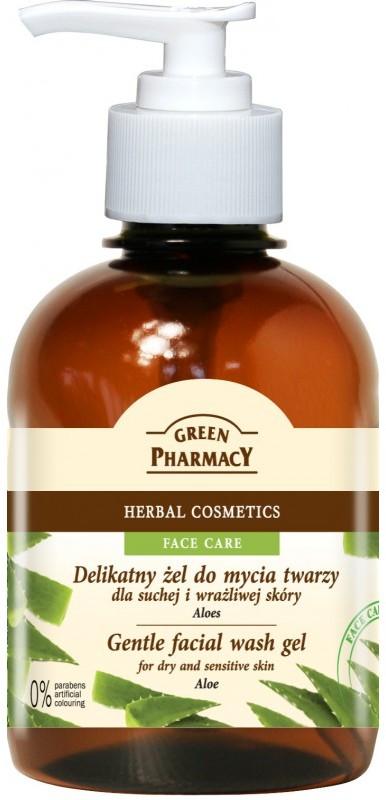 Green Pharmacy Delikatny żel do mycia twarzy Aloes GP-0124