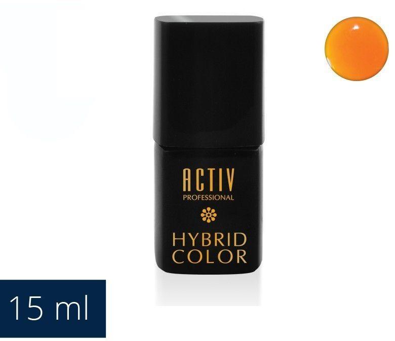 ACTIVESHOP LAKIER HYBRYD UV LED 20 HULA HOOP ORANGE NEONOWY POMARAŃCZ 15ml AS_104033