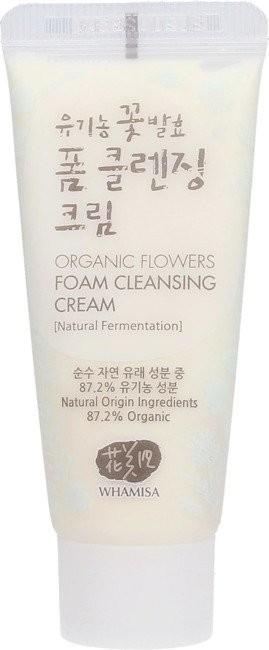 Organic Surge WHAMISA Whamisa Flowers Foam Cleansing Cream Oczyszczający krem do mycia twarzy 200ml 45599-uniw