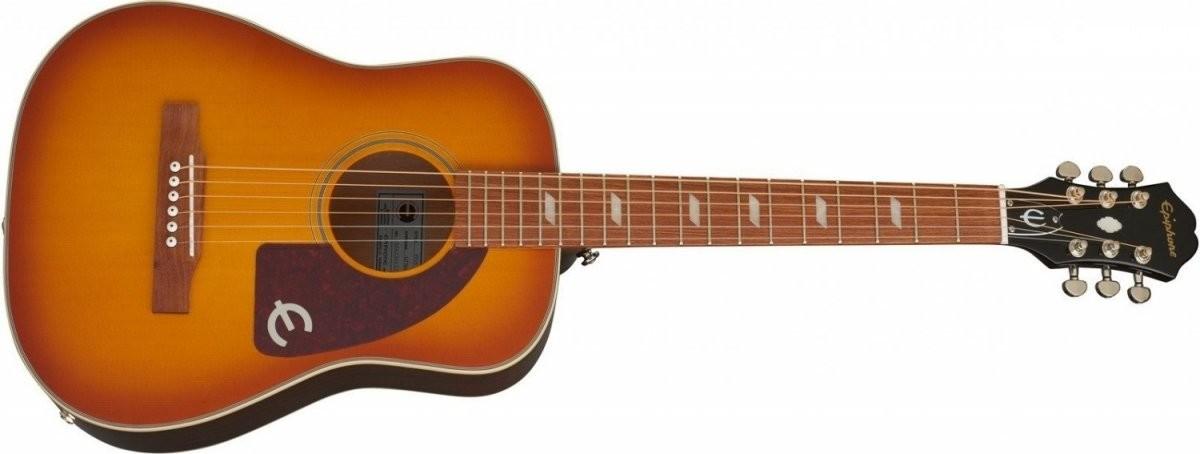 Epiphone Lil Tex Travel gitara elektro akustyczna Faded Cherry Sunburst