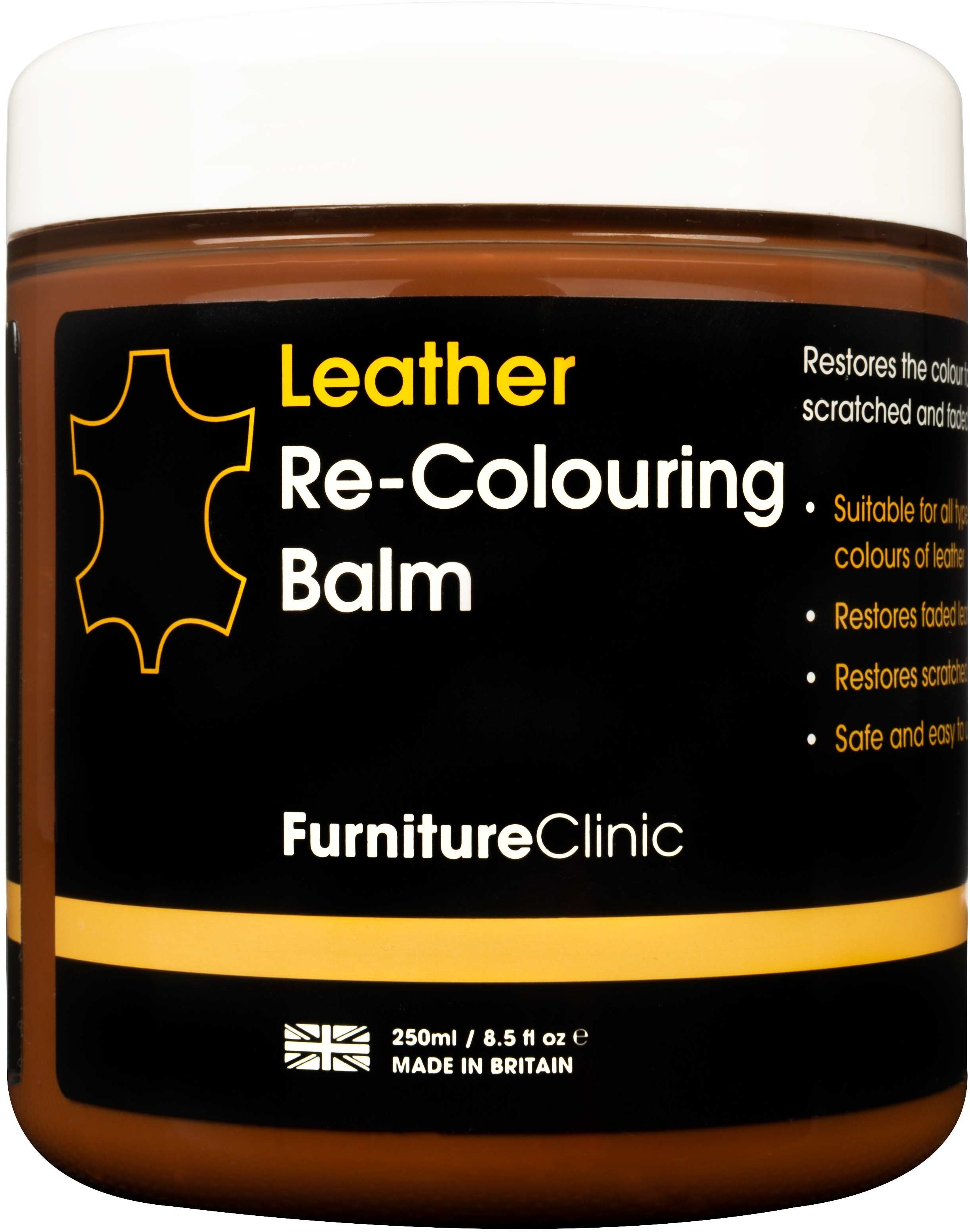 Furniture Clinic Leather Re-Colouring Balm balsam koloryzujący MED BROWN 250ml FUR000011