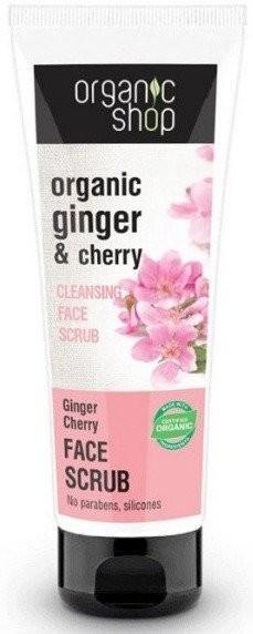 Organic Shop Peeling oczyszczający do twarzy wiśnia i imbir 75 ml 32148-uniw
