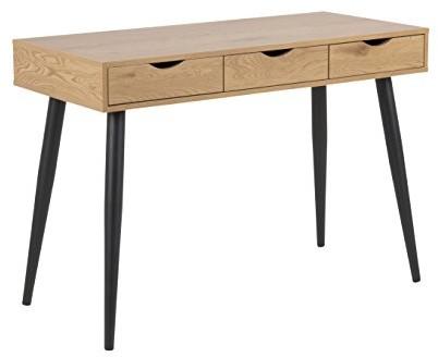 AC Design Furniture Irene biurka, blat stołu: Melamina, stelaż: metal, naturalny, 50x 110x 77,1cm H000017689