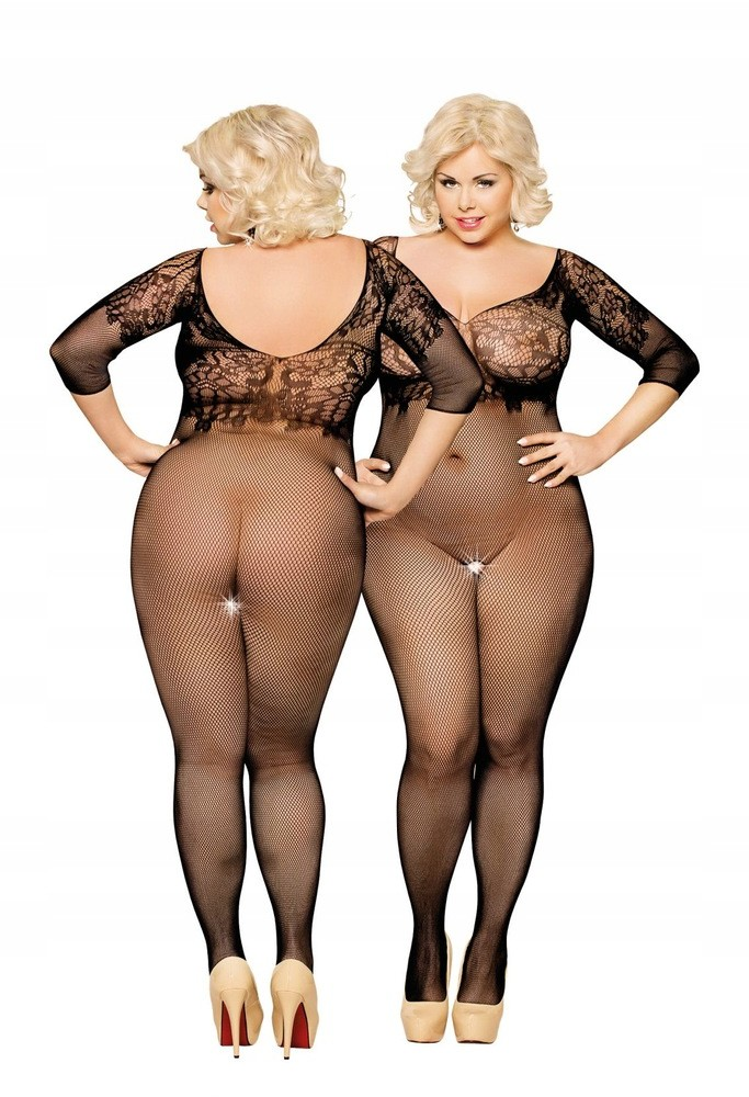 Soft Line Collection Dragonfly Black 6240 Plus Size bodystocking 77748