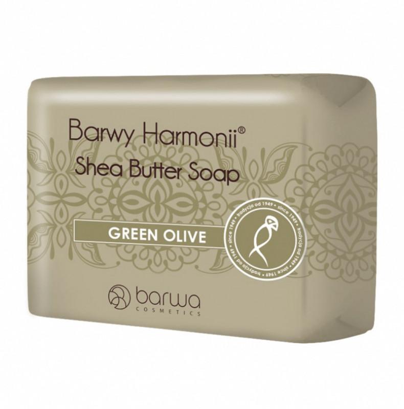 Barwa Shea Butter Soap - GREEN OLIVE - Oliwkowe mydło w kostce BARBGOWKO
