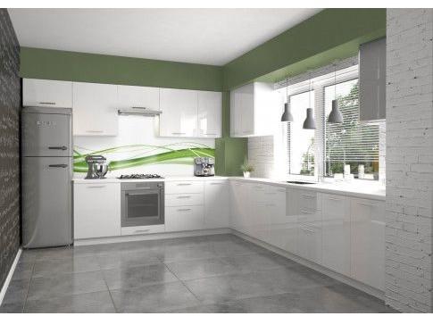 Biały zestaw mebli kuchennych Limo