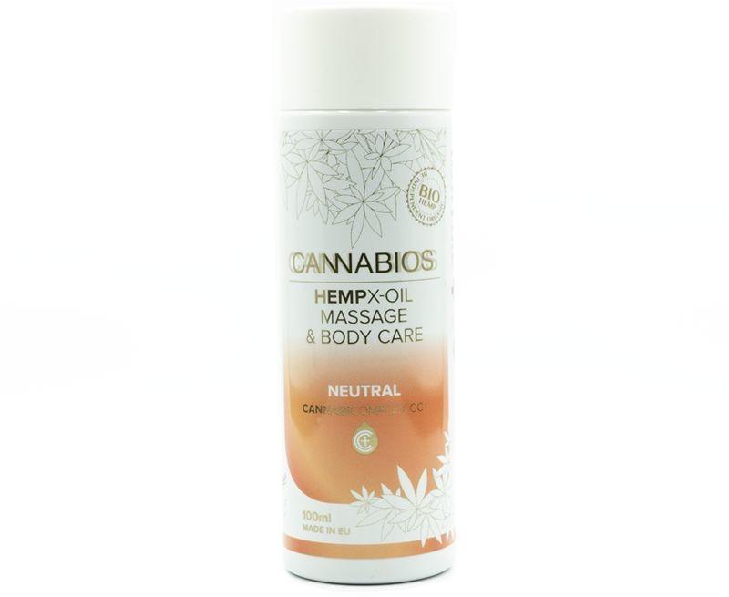 Cannabios CANNABIOS Olejek do masażu neutralny X-Oil z olejem z konopi 100ml cb03