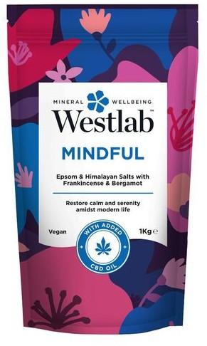 Westlab Sól odprężająca do kąpieli z olejkiem kadzidłowym i skórką bergamotki Westlab Mindful 1kg