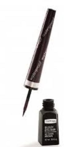 IsaDora Glossy Eyeliner Waterproof liner w pędzelku 42 Dark Brown 3,7ml 44377-uniw