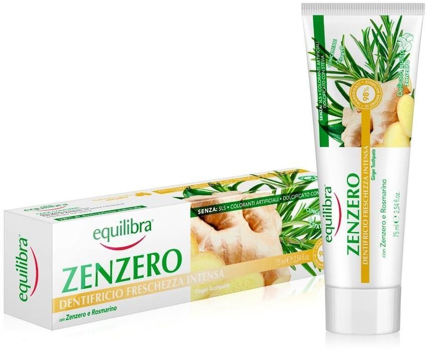 Equilibra Equilibra Pielęgnacja twarzy Imbirowa pasta do zębów intensywnie odświeżająca 75 ml