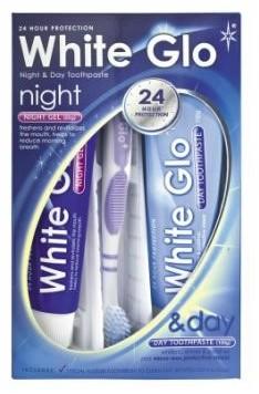 White Glo Night & Day - Zestaw pasta na dzień i żel na noc, 65 ml + 65 ml, Nowość Pas000166