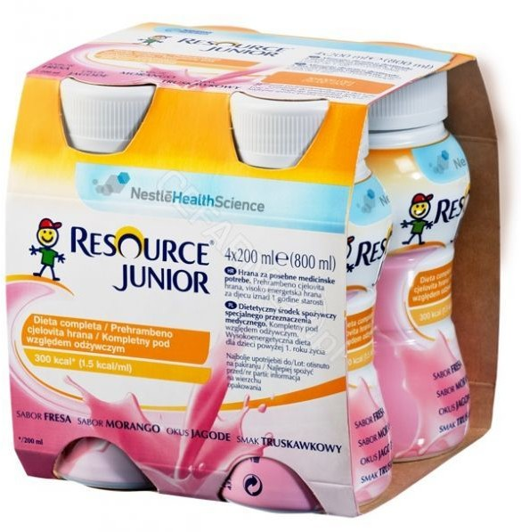 Nestle Resource Junior 4x200 ml smak truskawkowy