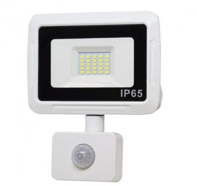 CANLED Naświetlacz LED 10W z czujnikiem ruchu biała neutralna NSYB-PIR-10W-N
