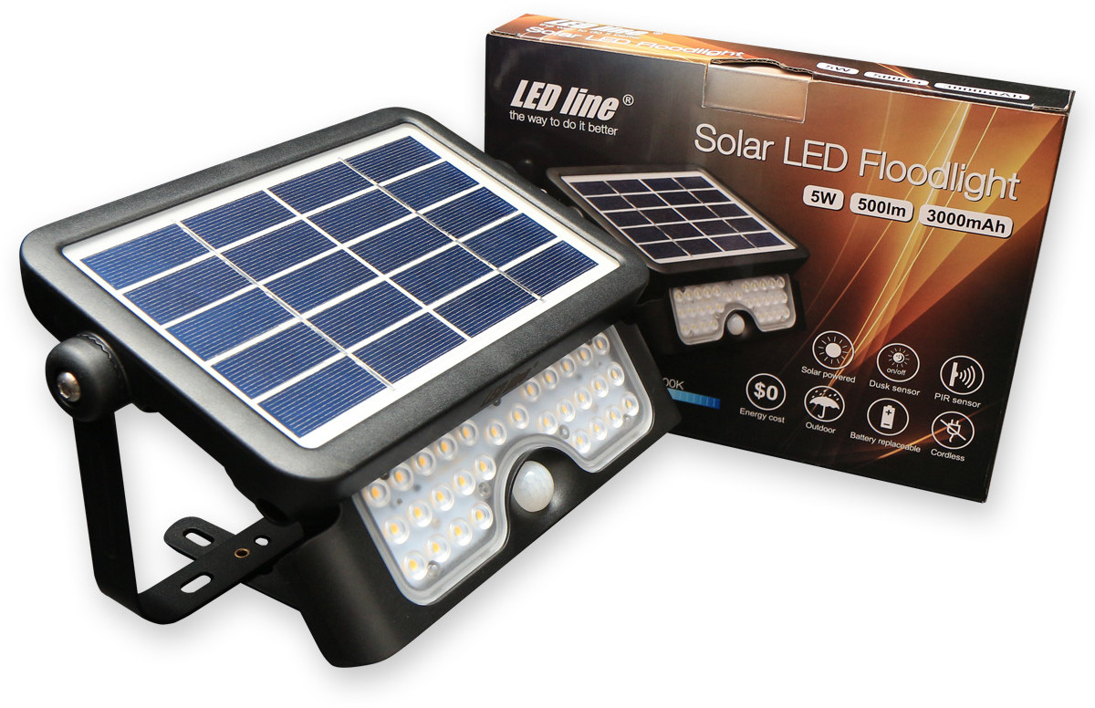 Led line Naświetlacz solarny 5W 500LM 4000K biała dzienna 249389