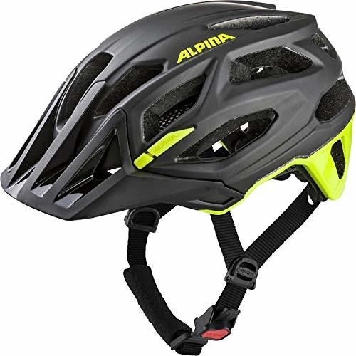 Alpina GARBANZO kask rowerowy dla dorosłych, uniseks, czarno-neonowo-żółty, 52 57 cm (A9700134)