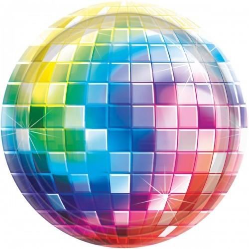 Amscan Talerzyki na Disco Party, Lata 70-te 17,8 cm TALPAP/2188-A