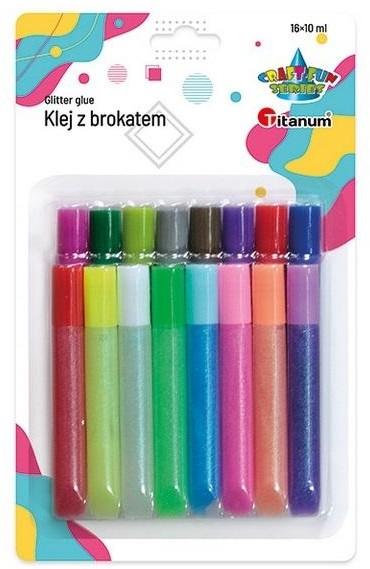 Titanum Klej z brokatem 16 kolorów