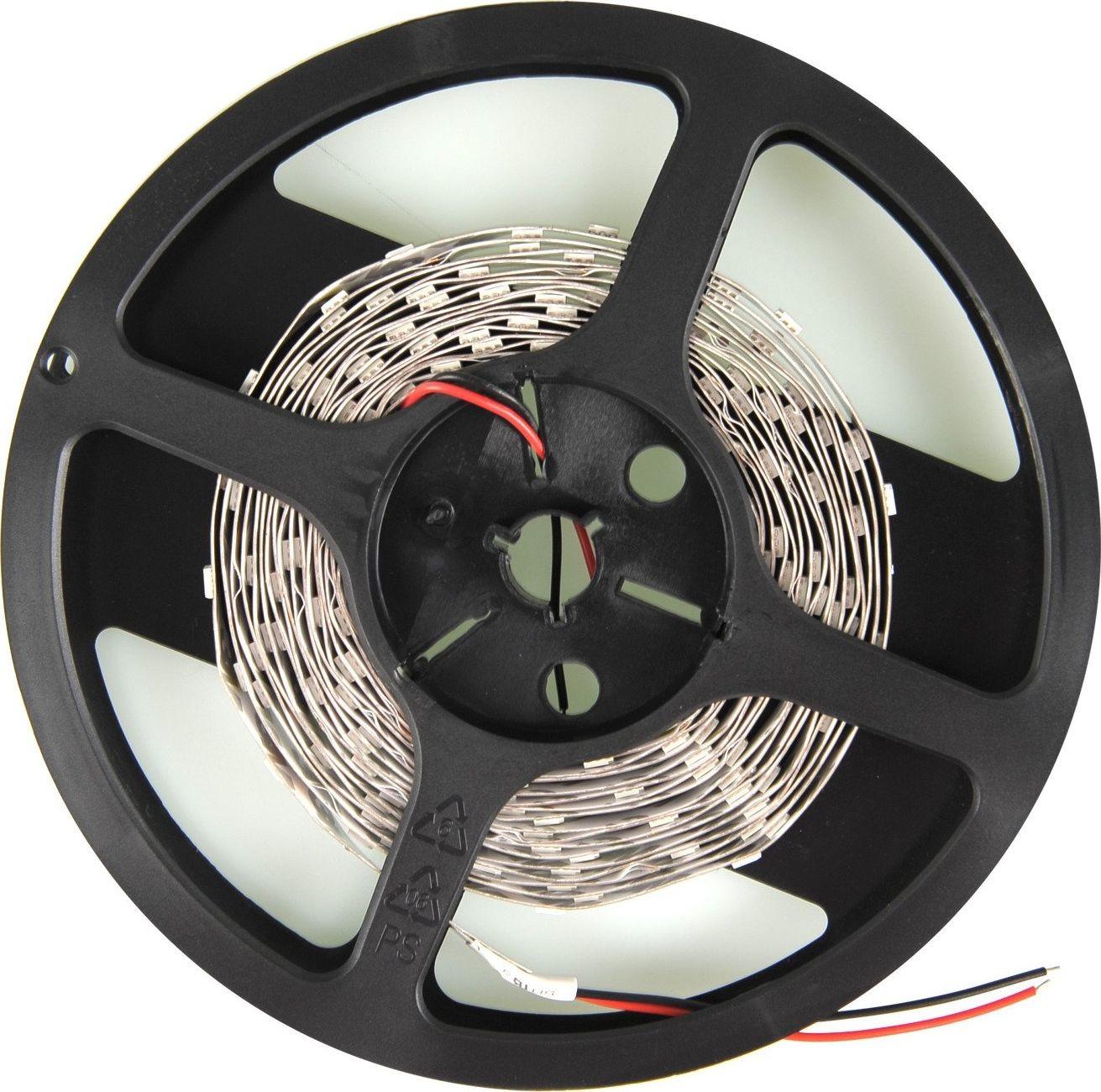 Whitenergy Taśma LED Whitenergy Taśma LED Whitenergy 5m SMD3528 4,8W/m 12V 10mm zimna biała bez konektora Uniwersalny
