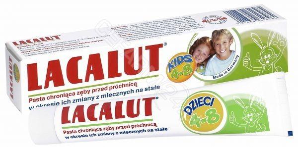Natur Produkt Lacalut Pasta do zębów dla dzieci 4-8 lat 50 g