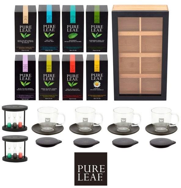 PURE LEAF Zestaw 8 smaków herbata PURE LEAF + akcesoria 8714100383438