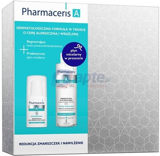 Dr Irena Eris Pharmaceris A SENSIRENEAL regenerujący krem przeciwzmarszczkowy do twarzy SPF10 30ml + PREBIO-SENSILIQUE prebiotyczny płyn micelarny do ekstremalnie wrażliwej skóry 200ml (ZESTAW)