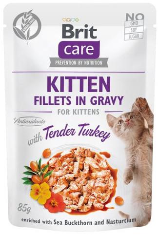 Brit Care Cat Fillets in gravy with tender turkey 85 g filety indyka w sosie