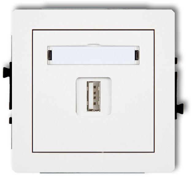 Karlik Ładowarka pojedyńcza USB DECO Biały DCUSB-3