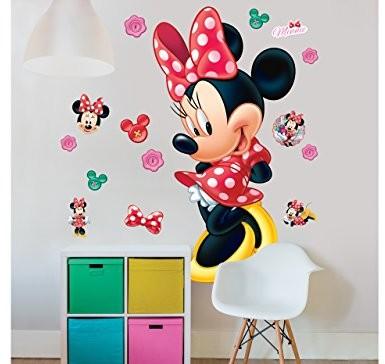 Walltastic 44265Disney, Myszka Minnie Mouse, duży figurauf klej, winyl, kolorowa, 7x 7x 52,5cm 44265