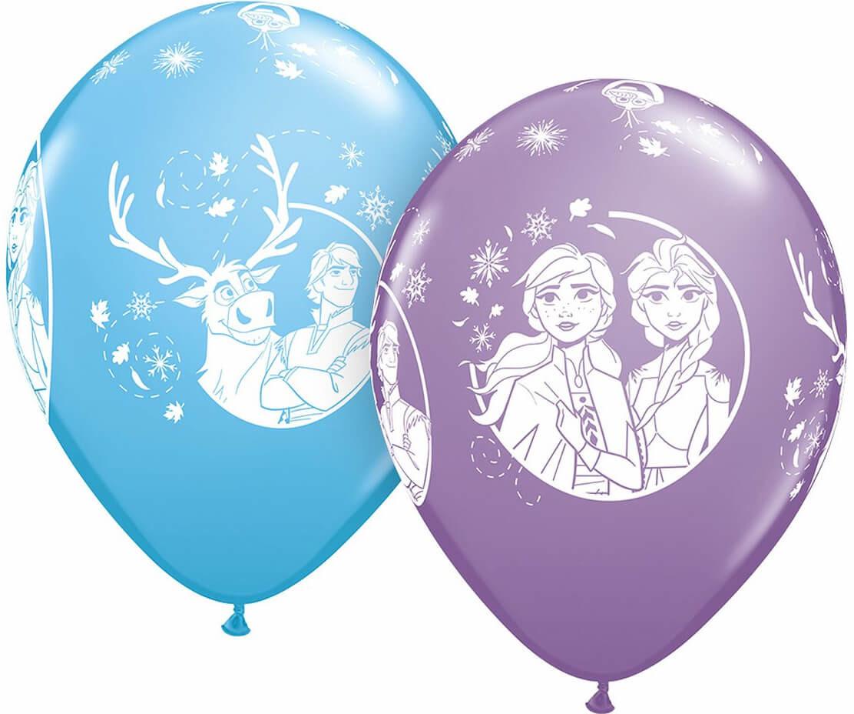 Qualatex Balony urodzinowe Frozen - Kraina Lodu - 28 cm - 25 szt 98305Q