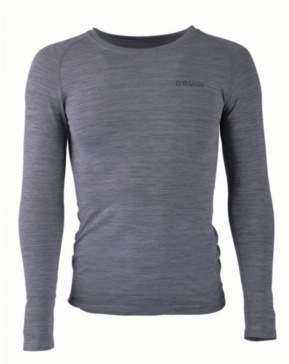 Brugi Koszulka termoaktywna męska Seamless 4RB3 grigio nero 8300163014138