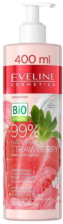 Eveline Cosmetics Cosmetics Pielęgnacja ciała 99% Natural Strawberry Nawilżająco wygładzający jogurt do ciała 400 ml