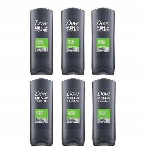 Dove Men+ Care Extra Fresh Żel 6 x 400 ml