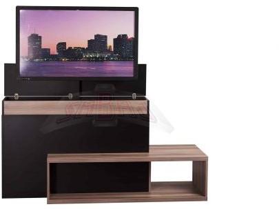 Sabaj System Zestaw czarna komoda i elektryczny podnośnik do telewizora WINDA TV Maksymalna przekątna ekranu 50