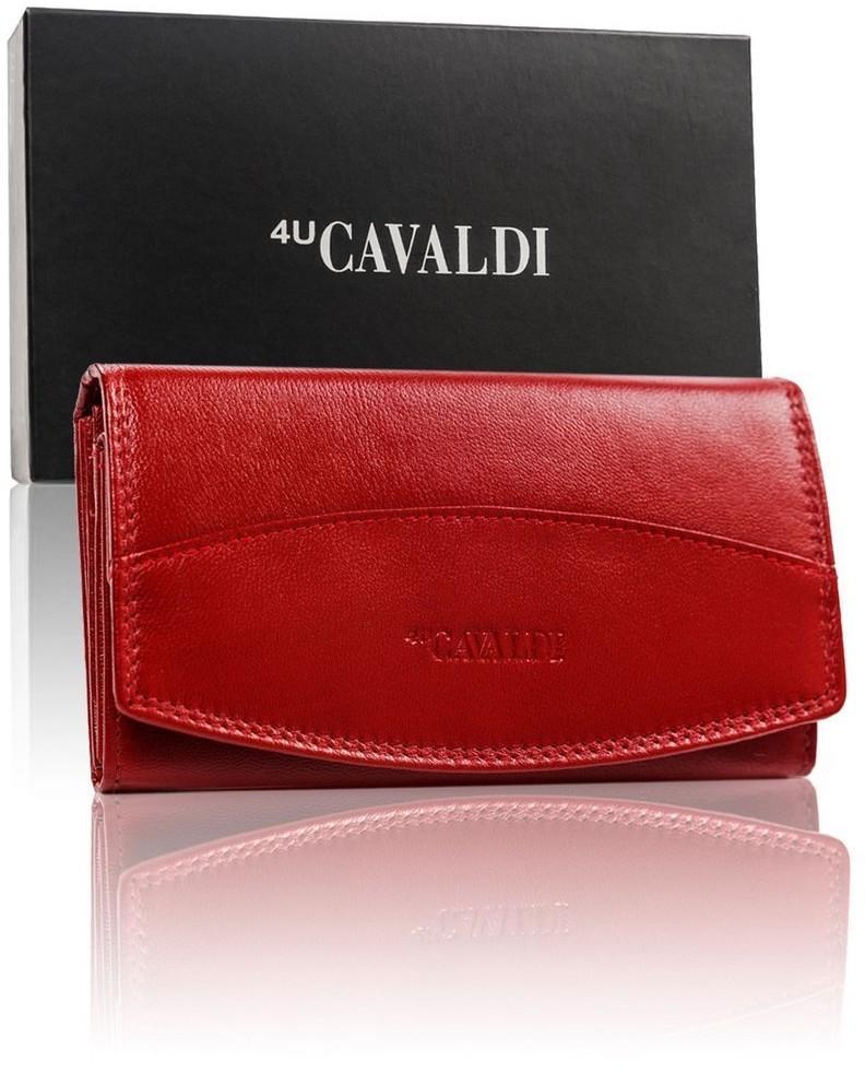 Cavaldi Długi, podłużny portfel damski, skóra naturalna,