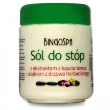 BingoSpa Sól do stóp z kasztanowcem i olejkiem z drzewa herbacianego