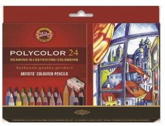 Koh-I-Noor Kredki Polycolor 24 kolory