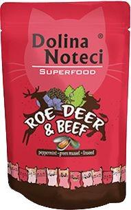 Dolina Noteci Superfood Mokra Karma dla Kota 85g : Smak - Sarna i wołowina, Opakowanie - 85g