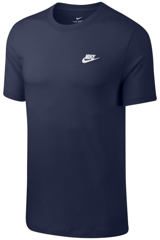Nike T-shirt męski Sportswear Club - Niebieski