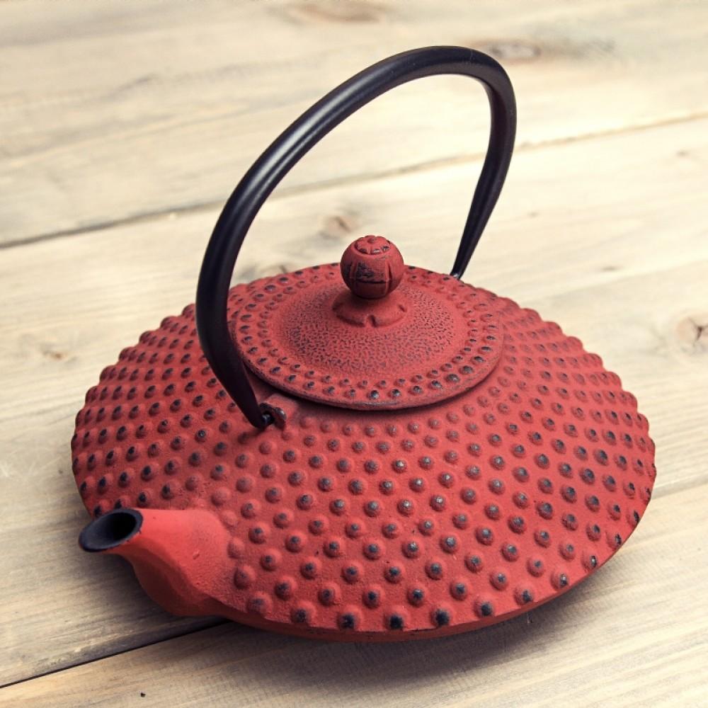 Bredemeijer Xilin żeliwny zaparzacz do herbaty czerwony 0,8l pojemność 0,8l