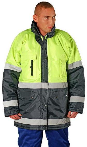 5bea988aa5491c Reis BLUE-YELLOW - odzież ochronna, kurtka zimowa z pasami odblaskowymi - M  -